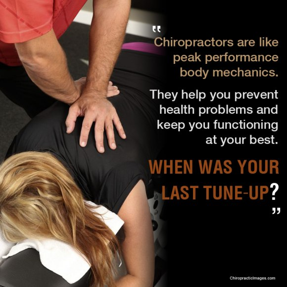Chiropractor are like peak performance body mechanics.